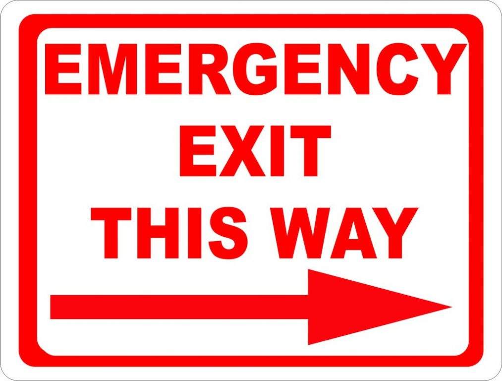 Significance of emergency exits